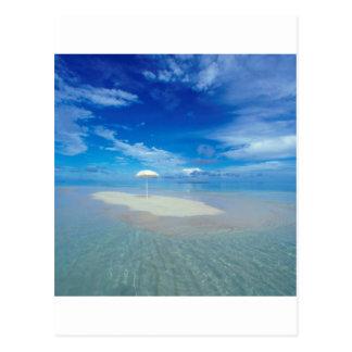 Oasis tropicale d'île tropicale cartes postales
