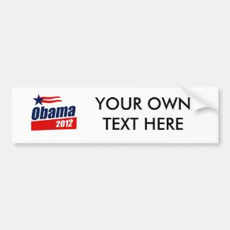 Obama 2012 autocollant de voiture
