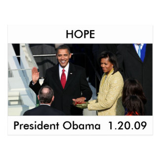 Obama 2012 carte postale