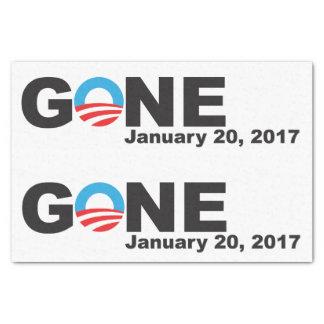 Obama allé, 2017 papier mousseline
