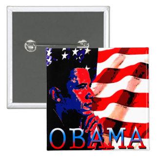 Obama avec le drapeau américain badge