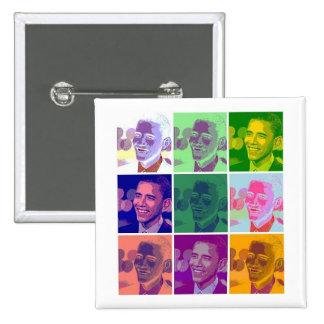 obama badge carré 5 cm