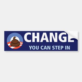 Obama : Changement vous pouvez intervenir Autocollant Pour Voiture