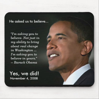 Obama - croyez - Mousepad Tapis De Souris