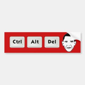Obama : CTRL-Alt-Del Autocollant Pour Voiture