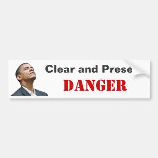 Obama : Danger clair et actuel Autocollant Pour Voiture
