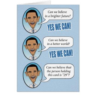 """Obama drôle """"oui nous pouvons"""" carte"""