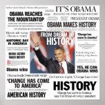 Obama : Du rêve à l'affiche de titre d'histoire