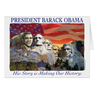 Obama faisant la carte du mont Rushmore d'histoire