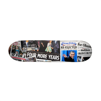 Obama gagne la planche à roulettes 2012 skateoard personnalisé