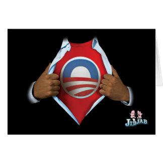 Obama indiquent carte de vœux