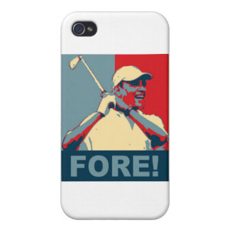 Obama jouant au golf À L AVANT iPhone 4 Case