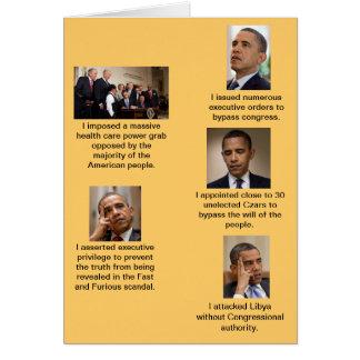 Obama le dictateur carte de vœux