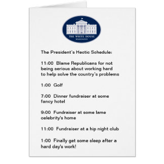 Obama - le golfeur/Collecteur de fonds-dans-Chef Cartes