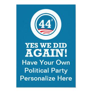Obama - oui nous avons fait ENCORE Carton D'invitation 12,7 Cm X 17,78 Cm
