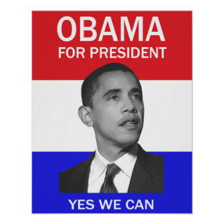 obama oui nous pouvons affiche posters