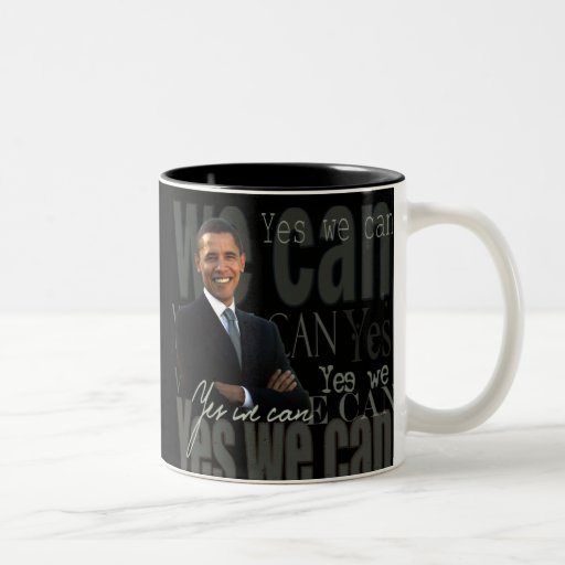 Obama oui que nous pouvons attaquer tasse