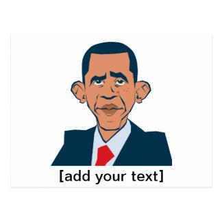 Obama - portrait drôle cartes postales