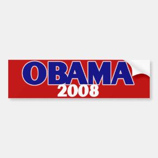 Obama rouge, blanc, bleu 2008 autocollant de voiture