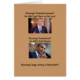 Obama sur le succès cartes