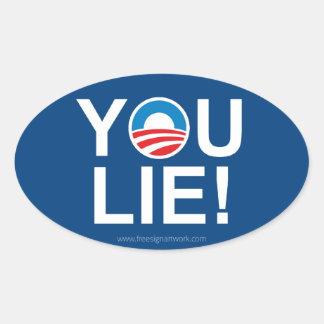 Obama vous vous trouvez -- Antiobama Sticker Ovale