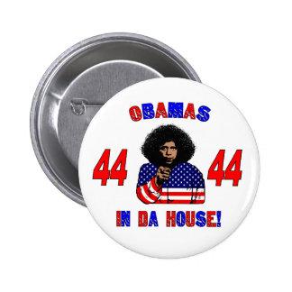 Obamas dans le bouton de Chambre du DA Badge