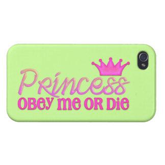Obéissez la princesse étuis iPhone 4
