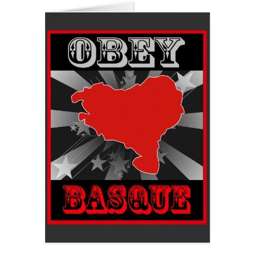 Obéissez le basque carte de vœux