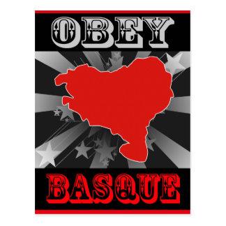 Obéissez le basque carte postale