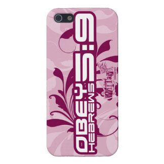 Obéissez le coque iphone de fille de 5:9 d'Hébreux Étui iPhone 5