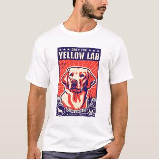 Obéissez le laboratoire jaune ! t-shirt