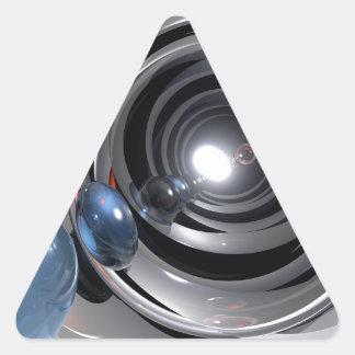 Objectif de caméra abstrait autocollants en triangle