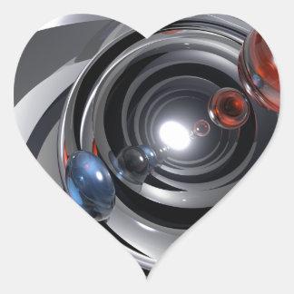 Objectif de caméra abstrait sticker cœur