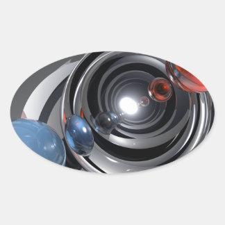 Objectif de caméra abstrait sticker ovale