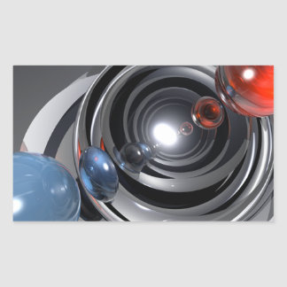 Objectif de caméra abstrait sticker rectangulaire