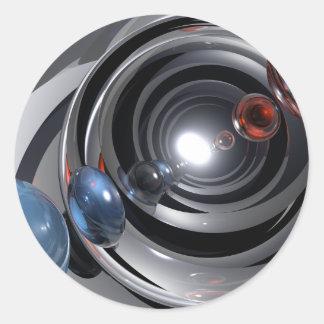 Objectif de caméra abstrait sticker rond