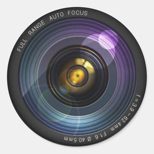 Objectif de caméra adhésifs ronds