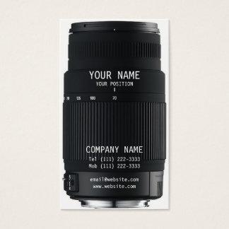Objectif de caméra cartes de visite