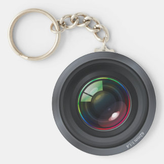 Objectif de caméra porte-clé rond