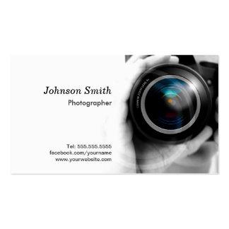 Objectif de caméra - présentez votre meilleur carte de visite standard