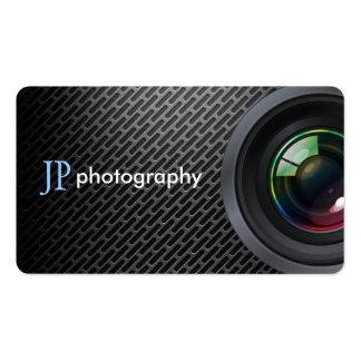Objectif de caméra professionnel de photographe carte de visite