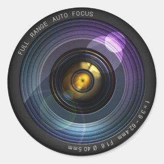 Objectif de caméra sticker rond