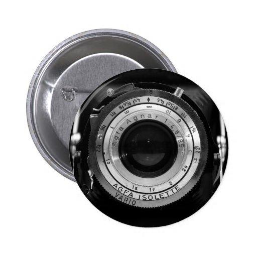 Objectif de caméra vintage badge