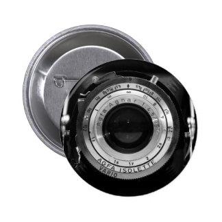Objectif de caméra vintage badge rond 5 cm