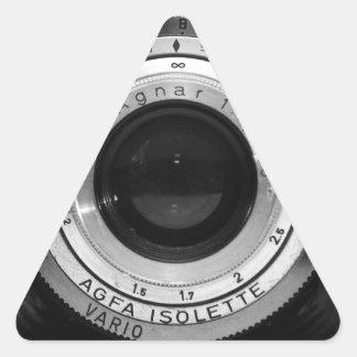Objectif de caméra vintage sticker triangulaire