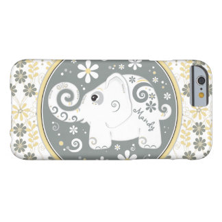 Objet superflu jaune gris floral coque barely there iPhone 6