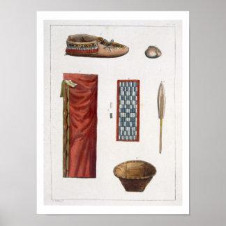 Objets appartenant aux Indiens canadiens (couleur  Posters
