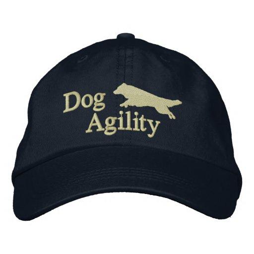 Obscurité de border collie d'agilité chapeaux brodés