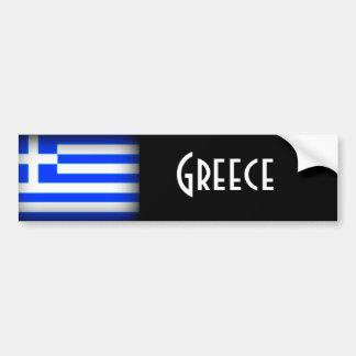 Obscurité de drapeau de la Grèce Autocollant Pour Voiture