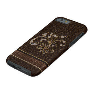 Obscurité simili cuir du bouquet 2 coque tough iPhone 6